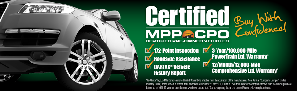 MPP | Certified Pre-Owned | MPP - Mechanical Protection Plan